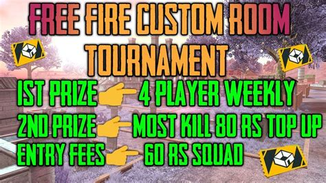 View this post on instagram. Free Fire Custom room Tournament Join kaise kre|| prize ...