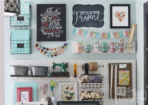 A Craft Room Office Pegboard Gallery Wall (with Video Tour