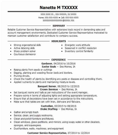 food processing resume exles in iowa livecareer