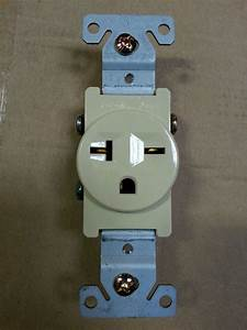 1 Pc  Single Receptacle 20 Amp 20a 250v Ac Outlet 2 Pole