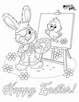 Easter Coloring Pals Patching Eye sketch template