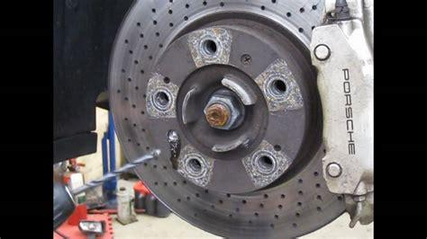 diy drilling  stripped brake rotor screws youtube
