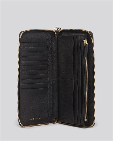 tory burch wallet york zip passport continental  green