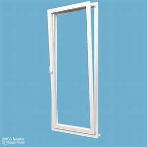 Porte fenetre pvc gamme design a 1 vantail ouvrant oscillo for Porte fenetre 1 vantail pvc