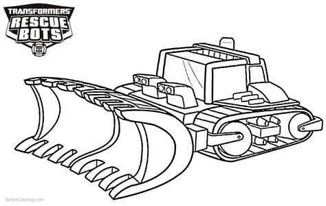 transformers rescue bots boulder coloring pages
