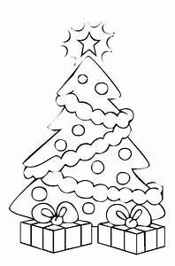 Weihnachtsgeschenke Zum Ausmalen : ausmalbild weihnachten weihnachtsbaum mit geschenken ~ Watch28wear.com Haus und Dekorationen