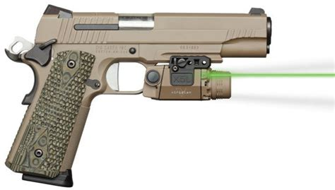 universal gun laser light viridian x5l fde universal pistol rail mount light green