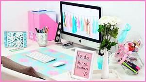 Schreibtisch Organizer Basteln : diy desk makeover s e n tzliche organisation dekoration f r deinen schreibtisch youtube ~ Eleganceandgraceweddings.com Haus und Dekorationen