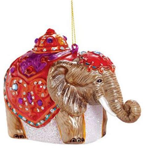 glass elephant ornament asian christmas ornaments