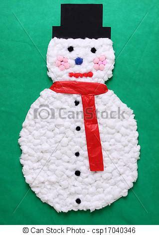 cotton ball snowman  snowman   cotton balls