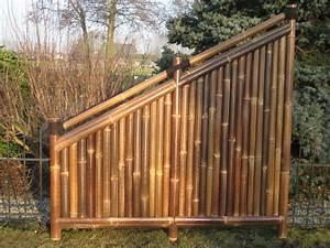 Zaun 150 Cm Hoch : bambuszaun kajuku 180 90 cm hoch x 180 cm breit sichtschutz aus bambus bambuszaun ~ Frokenaadalensverden.com Haus und Dekorationen
