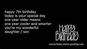 7th birthday gr... 7th Bday Quotes