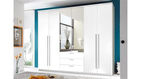 Kleiderschrank Neptun Schrank In Weiß Mit Spiegel 270 Cm