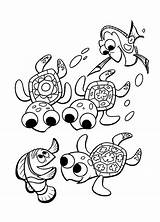 Coloring Underwater Turtles Nemo Finding Colorkid sketch template