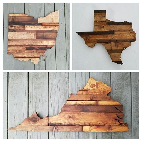 rustic wood state sign   diy wood projects custom