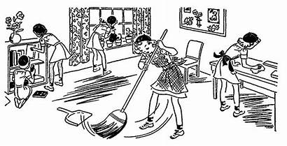 Cleaning Clipart Classroom Clean Environment Line Clip