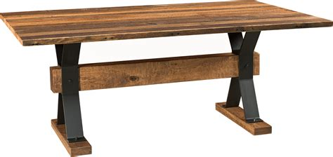 barnloft trestle dining table amish trestle table