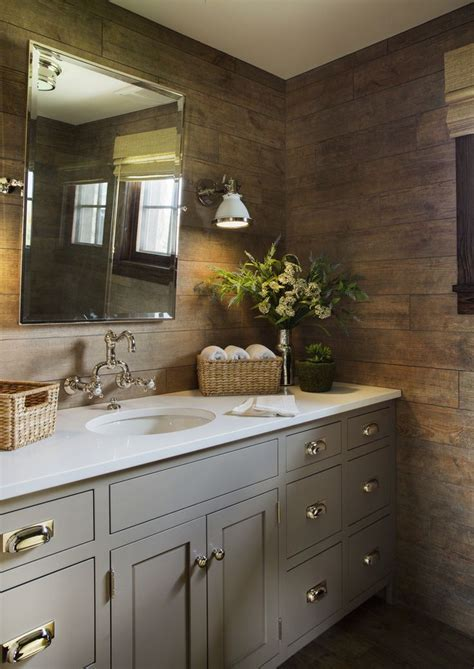 Kings Lane Farmhouse, Faux wood tile, gray cabinets, ralph