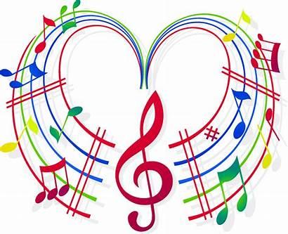 Notes Clipart Heart Choir Note Musical Wallmonkeys