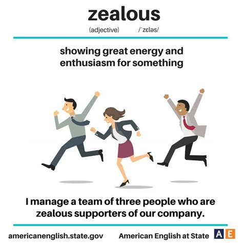It Is With Great Interest And Enthusiasm That I Am Applying by Vocabulary Zealous Showing Great Energy And Enthusiasm