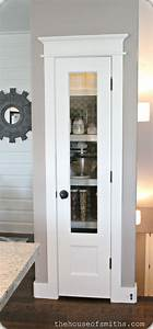 15 organization ideas for small pantries for Glass pantry door ideas