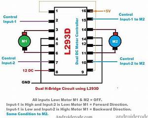 Pin Diagram Of L293d Motor Driver
