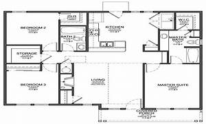 Small 3 bedroom house floor plans cheap 4 bedroom house for Layout for 4 bedroom house
