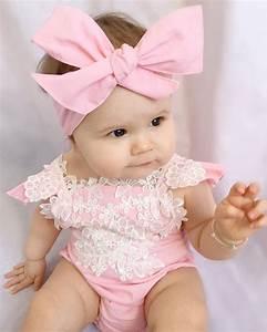 Cute Pink Newborn Baby Girl Romper