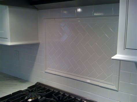 kitchen subway tiles backsplash pictures white subway tile with herringbone backsplash stove