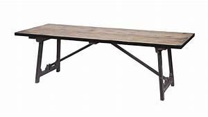Tréteaux Pour Table : table manger en bois 220x90 pi tement en tr teaux m talliques noir collection craft ~ Melissatoandfro.com Idées de Décoration