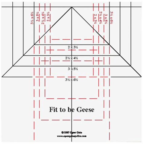 fit   geese ruler ogr   open gate quilts