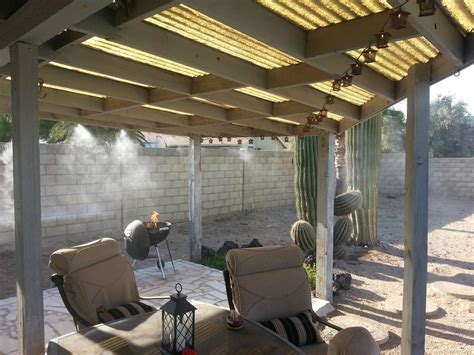 patio misting system diy outdoor mist cooling system design ideas