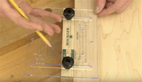 installing drawer pulls jig for easier drawer and door pull installation