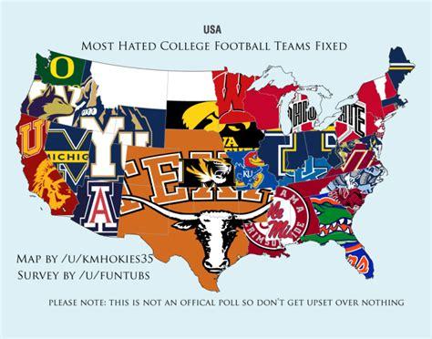 hated college football team  oklahoma texas
