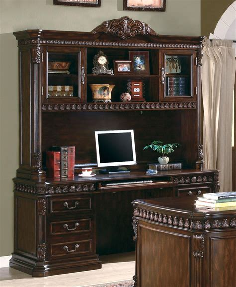 Office Desk With Credenza by Union Hill Rich Brown Home Office Credenza With Hutch From