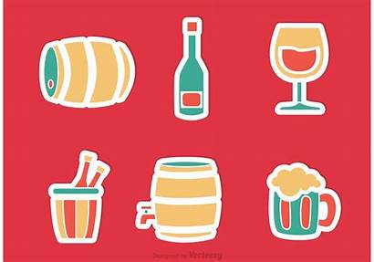 Alcohol Sticker Vectors Beer Clipart Stickers Graphic