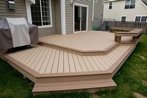 Stahlkonstruktion Terrasse Kosten : deck design ideas trex cedar hardwood alaskan0119 saddle ~ Lizthompson.info Haus und Dekorationen