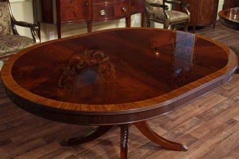 48 quot round to 66 quot oval mahogany dining table reproduction antique dining room ebay