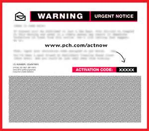 PCH ActNow Activation Code Entry