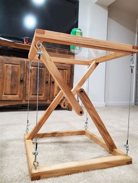 tensegrity impossible side table somethingimade