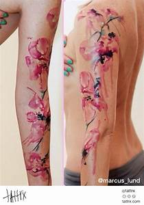 watercolor flower sleeve tattoo - Google Search | TATTOOS ...