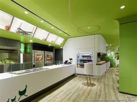 green kitchen restaurant 奶茶吧台装修效果图图片大全 奶茶店店面效果图设计 1428