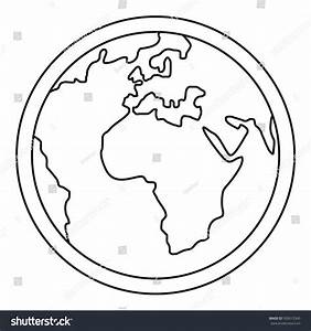 Earth Outline | www.pixshark.com - Images Galleries With A ...