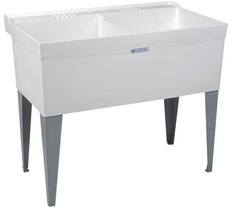 double sink laundry tub new el mustee son 27f double white deluxe laundry tub