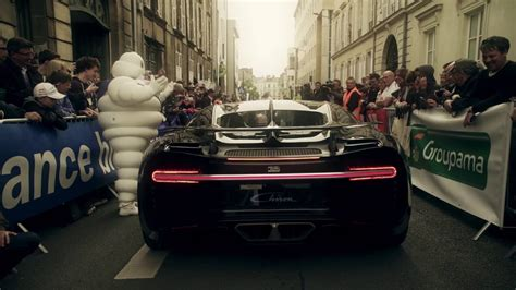 Michelin played an integral role in the chiron's top speed run. The Bugatti Auto Model Chiron Car at the drivers parade of the 24h race of Le Mans | .JPG Cars