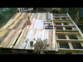 Terrasse Avec Palette De Bois terrasse en palette youtube
