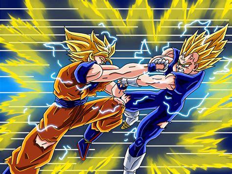 Majin L Vs Goku by Ssj2 Goku Vs Ssj2 Majin Vegeta By Animefreakazoid6 On