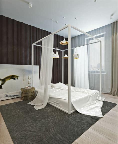 chambre ultra moderne lit baldaquin pour une chambre de déco romantique moderne