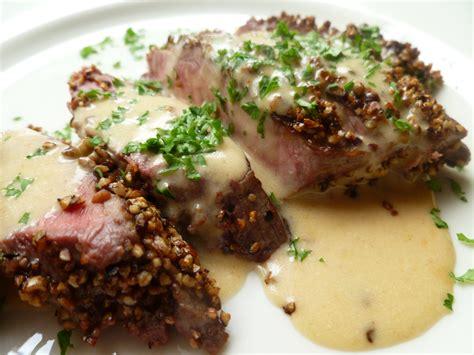 steak au poivre steak au poivre and brandy cream sauce diplomatickitchen