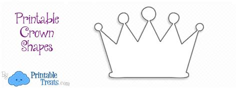 printable crown shape printable treatscom